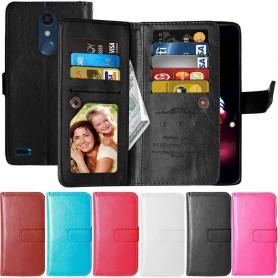 Dubbelflip Flexi 9-kort LG K10 2018 mobilskal fodral plånbok väska