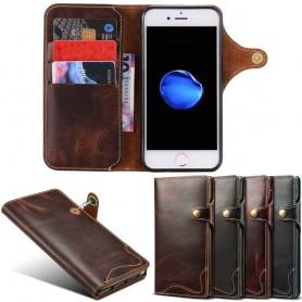Mobilplånbok 3-kort äkta läder Apple iPhone 7 / 8 mobilskal fodral