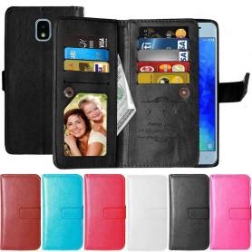 Dubbelflip Flexi 9-kort Samsung Galaxy J3 2018 mobilskal fodral skydd
