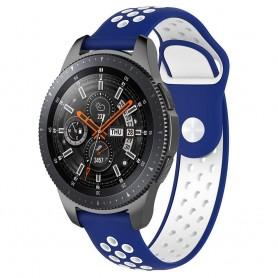 EBN Sport Armband Samsung Galaxy Watch 46mm-Blå/vit