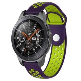 EBN Sport Armband Samsung Galaxy Watch 46mm-Lila/grön