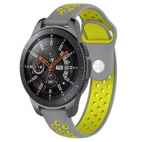 EBN Sport Armband Samsung Galaxy Watch 46mm-Grå/gul