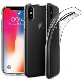 Apple iPhone X Silikon skal Transparent mobil skal skydd CaseOnline