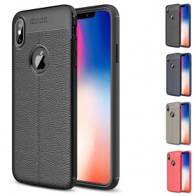 "Läder mönstrat TPU skal Apple iPhone XS (5.8"") mobilskal"