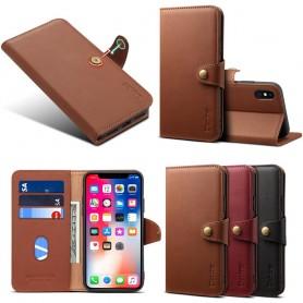 Denior Mobilplånbok läder 3-kort Apple iPhone XS Max skinn fodral skal caseonline