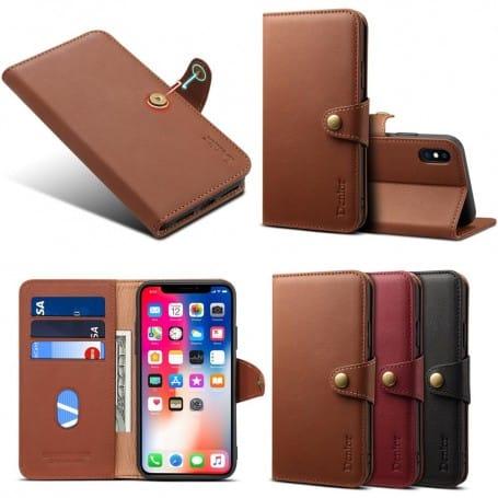 mobil plånbok läder