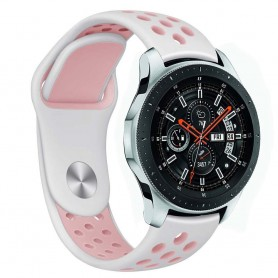 EBN Sport Armband Samsung Galaxy Watch 46mm-Vit/rosa