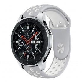 EBN Sport Armband Samsung Galaxy Watch 46mm-Lgrå/vit