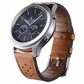 Armband brun läder Samsung Gear S3 Frontier - S3 Classic