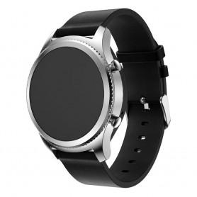 Läder Armband Samsung Gear S3 Frontier/Classic - Svart