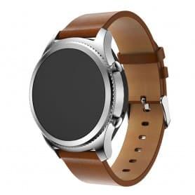 Läder Armband Samsung Gear S3 Frontier/Classic - Brun