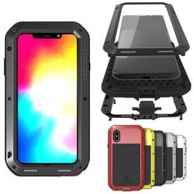 LOVE MEI Powerful Apple iPhone XS Max aluminium stål skal gorilla glas skydd
