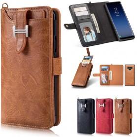 Multiplånbok 3i1 9-kort Samsung Galaxy Note 9 väska magnetisk 2i1 fodral caseonline