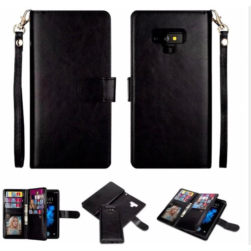 Dubbelflip Magnet 2i1 Samsung Galaxy Note 9 magnetisk mobilplånbok väska  fodral 68ac9397f64ef
