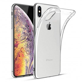 Apple iPhone XS Max Silikon skal Transparent mobil skal skydd CaseOnline