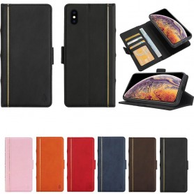 Retro Book Wallet 2i1 Apple iPhone XS Max magnetiskt fodral mobilskal