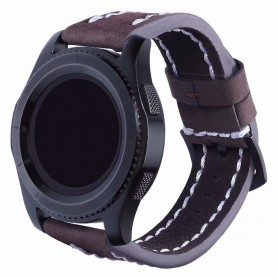 Läder Armband Sature Samsung Gear S3 Frontier/Classic - Brun
