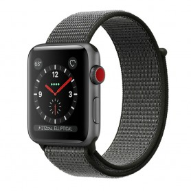 Apple Watch 42mm Nylon Armband - Mörk Oliv