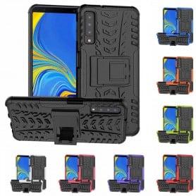 Stöttåligt skal med ställ Samsung Galaxy A7 2018 mobilskal silikon