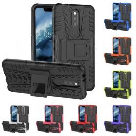 Stöttåligt skal med ställ Nokia 5.1 Plus mobilskal silikonskal skydd caseonline