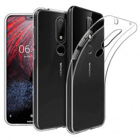 Nokia 6.1 Plus Silikon skal Transparent mobilskal skydd