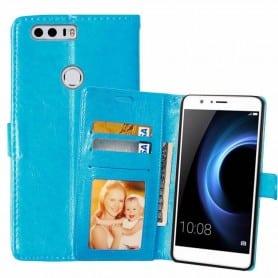 Mobilplånbok 3-kort Huawei Honor 8 (FRD-L09) - Blå