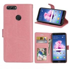 Mobilplånbok 3-kort Huawei P Smart - Ljusrosa