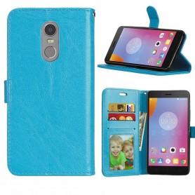Mobilplånbok 3-kort Lenovo K6 Note - Blå