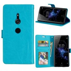 Mobilplånbok 3-kort Sony Xperia XZ2 - Blå