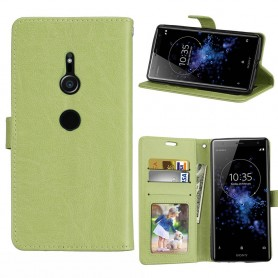 Mobilplånbok 3-kort Sony Xperia XZ2 - Grön