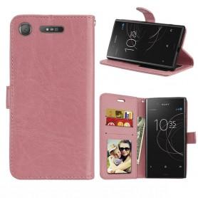 Mobilplånbok 3-kort Sony Xperia XZ1 - Ljusrosa
