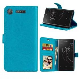 Mobilplånbok 3-kort Sony Xperia XZ1 - Blå