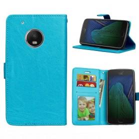 Mobilplånbok 3-kort Motorola Moto G5 Plus - Blå