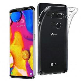LG V40 ThinQ Silikon skal Transparent mobilskal caseonline