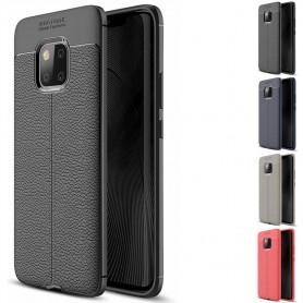 Läder mönstrat TPU skal Huawei Mate 20 PRO mobilskal