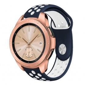 EBN Sport Armband Samsung Galaxy Watch 42mm Blå/vit (S)