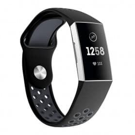 Fitbit Charge 3 EBN Sport Armband Silikon - Svart/grå