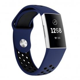 Fitbit Charge 3 EBN Sport Armband silikon - Blå/svart