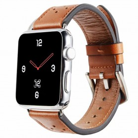 Apple Watch 4 (44mm) Läder Armband Plum - Brun