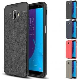 Läder mönstrat TPU skal Samsung Galaxy J6 Plus 2018 (SM-J610F) mobilskal caseonline