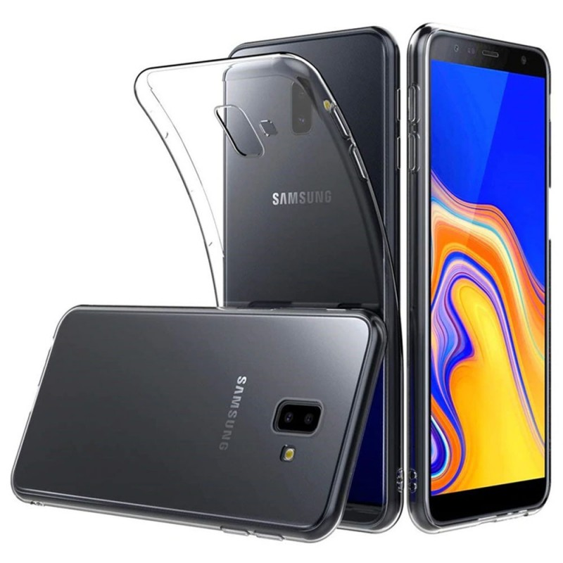 Silikon skal Transparent mobilskal Samsung Galaxy J6 Plus (SM-J610F) skydd caseonline