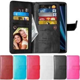 Dubbelflip Flexi 9-kort Sony Xperia XZ3 (H9436) mobilplånbok fodral