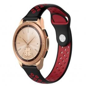 EBN Sport Armband Samsung Galaxy Watch 42mm Svart/röd (S)