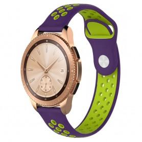 EBN Sport Armband Samsung Galaxy Watch 42mm Lila/grön (S)