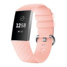Sport Armband till Fitbit Charge 3 - Ljusrosa