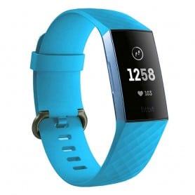 Sport Armband till Fitbit Charge 3 - Ljusblå