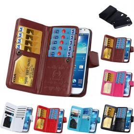Dubbelflip Magnet 2i1 Samsung Galaxy S4 GT-i9500 mobilskal fodral