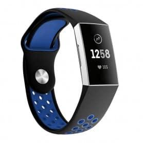 Fitbit Charge 3 EBN Sport Armband - Svart/blå