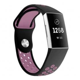 Fitbit Charge 3 EBN Sport Armband - Svart/rosa