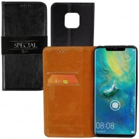 Mobilplånbok 2-kort Italian Leather Huawei Mate 20 Pro (LYA-L29)